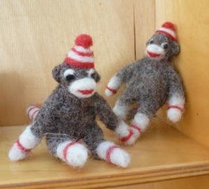 tiny sock monkeys