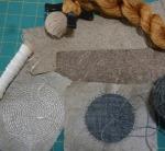 stitching on paper – red erisilk